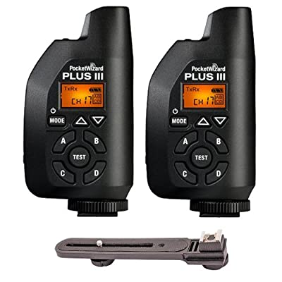 2-Piece Pocket Wizard 801-130 Plus III Transceiver w/ Bracket from Pocket Wizard