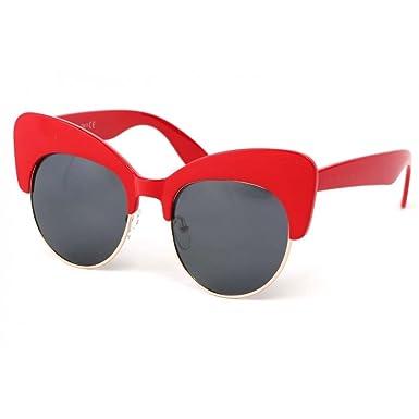 447f6010511aa5 Eye Wear Lunettes Soleil Maryline avec monture Rouge - Femme  Amazon.fr   Vêtements et accessoires