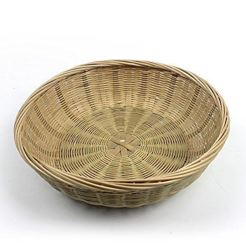 HUANGYIFU Restaurant Quality Oval/Round Baskets Natural Woven Tabletop Breakfast Bread Roll Fruit Food Serving Basket