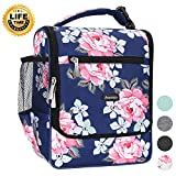 Amersun Insulated Lunch Box,Spacious Stylish Lunch Bag Cooler Tote Sturdy Snack Organizer with Multi-pocket for Kids Women Adult Girls School Office Picnic Work Bento Box(Spill-resistant,Rose Blue)