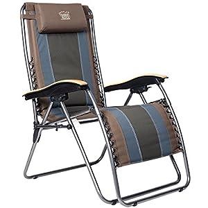 Timber Ridge Oversized XL Padded Zero Gravity Chair - Earth