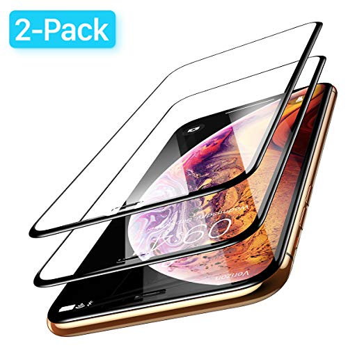 Ainope Screen Protector Compatible iPhone Xs Max, [2-Pack] Tempered Glass Screen Protector Full-Protect 0.33mm Compatible for Apple iPhone 6.5 inch Xs Max (2018), [Case Friendly] Anti-Fingerprint