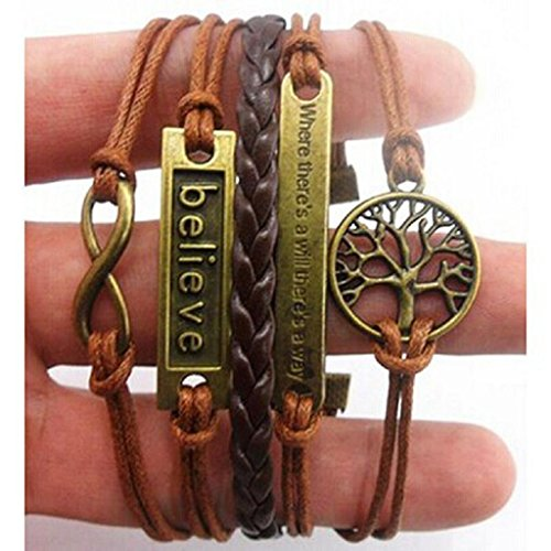 RIUDA Handmade Adjustable Multilayer Wristband