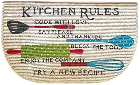 Kitchen Rugs Mat Non Skid D Shaped Decor 18 x 30 Inches