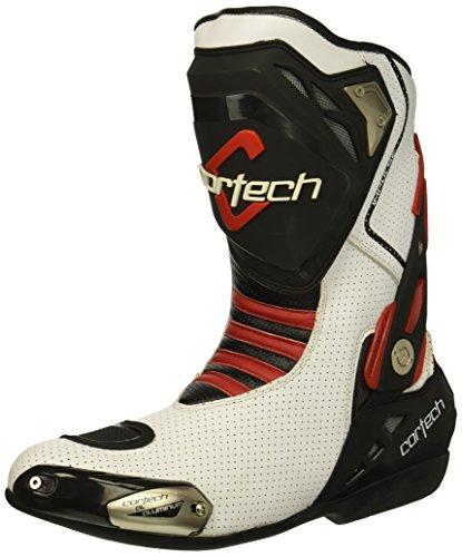 Cortech Men's Impulse Air Road Race Boot (White/Red, Size 14)