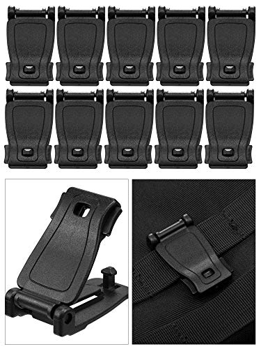 Tatuo 30 Pieces Tactical Gear Clip Strap for Molle Backpack Webbing  Attachments Ring Hook Tactical Vest Belt (Style A) 33933b6e2d66e
