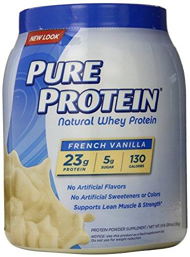 Pure Protein Natural Whey Protein Powder, French Vanilla, 3.2 Pound ,Pure-ui4h