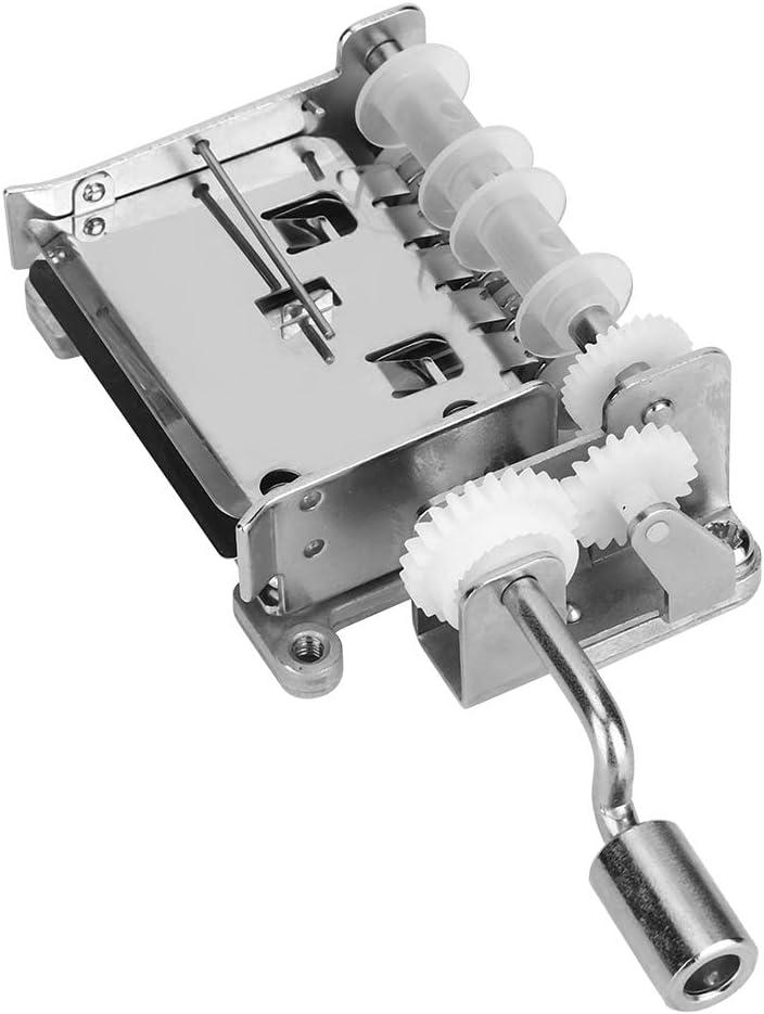 Nannday con Perforadora Durable 4.1 x 1.8 x 1.1in Movimiento Musical de aleación de Zinc, Movimiento de manivela, para producción de Cajas de música Regalos navideños
