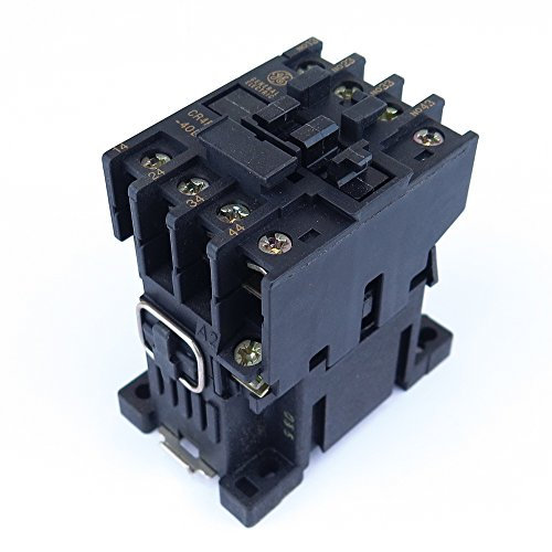 Coil 10 Amp Relay - GENERAL ELECTRIC CR4RA40EH Control Relay 21/24V AC Coil 50/60Hz 10 Amp 600V 4 No Auxiliary Contacts Made by Sprecher Schuh Fits SC3-40E-24
