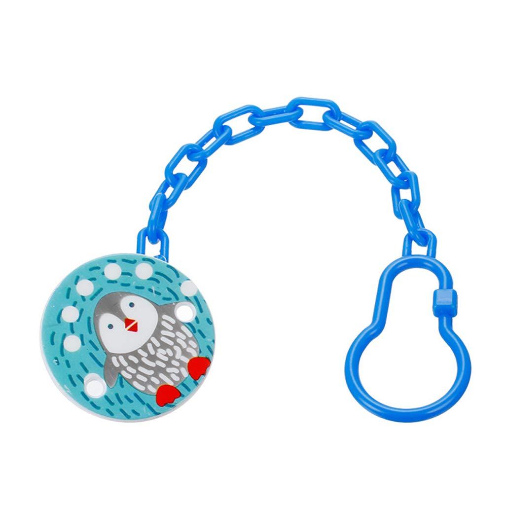 Eliky Kids Baby Cute Kette Schnuller Clip Halter F/ütterung Produkt Tier Cartoon Schnuller Anti Lost Infant Schnuller