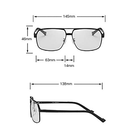 Gafas de sol polarizadas Aleación de aluminio y magnesio Moda Conducción Gafas de visión nocturna Deportes Ciclismo Gafas de moda (Color : A) : Amazon.es: ...