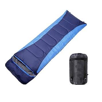 CXJC Saco De Dormir Forma De Sobre 3-4 Estaciones 190T (190cm+30cm)*75cm Impermeable Ultraligero para Acampada Senderismo Excursiones Viajes Actividades Al ...