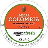 AmazonFresh 80 Ct. Coffee K-Cups, Decaf Colombia Medium Roast, Keurig Brewer Compatible