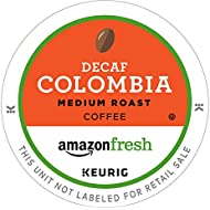 AmazonFresh 80 Ct. Coffee K-Cups, Decaf Colombia Medium Roast, Keurig Brewer Compatible