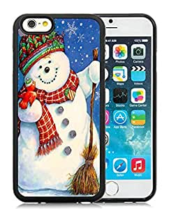 Personalized iPhone 6 Case,Christmas Snowman Black iPhone 6 4.7 Inch TPU Case 12