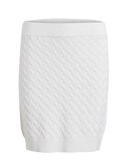 Vila Vixa Knit Falda Blanca Mujer: Amazon.es: Ropa y accesorios