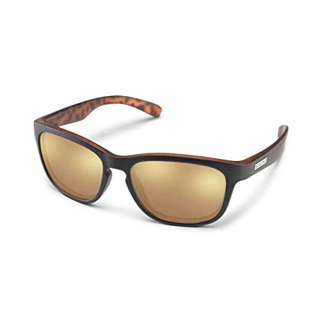 f1e5836365 Suncloud Cinco Polarized Sunglasses in Black Havana BP with Sienna Mirror  Lenses 55mm  Amazon.co.uk  Clothing