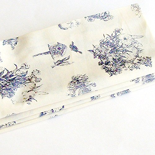 Toile Easter Bunnies and Chicks Cotton Napkins (Set of 4) ME2Designs Handmade Table Decor