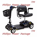 Pride Mobility - Go-Go LX with CTS Suspension - Travel Scooter - 4-Wheel - Blue - PHILLIPS POWER PACKAGE TM - TO $500 VALUE