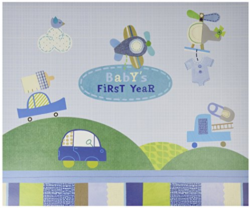 C.R. Gibson Blue Airplane First Year Baby Calendar for Boys, 11'' W x 18'' H A Babys First Year Calendar