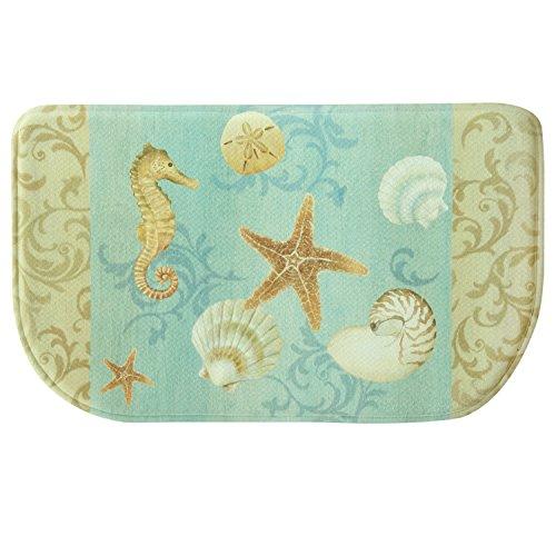 Ocean Blue Foam (Bacova Guild 78814 Standsoft Ocean Kitchen Anti-Fatigue Skid-Resistant Memory Foam Mat, 30