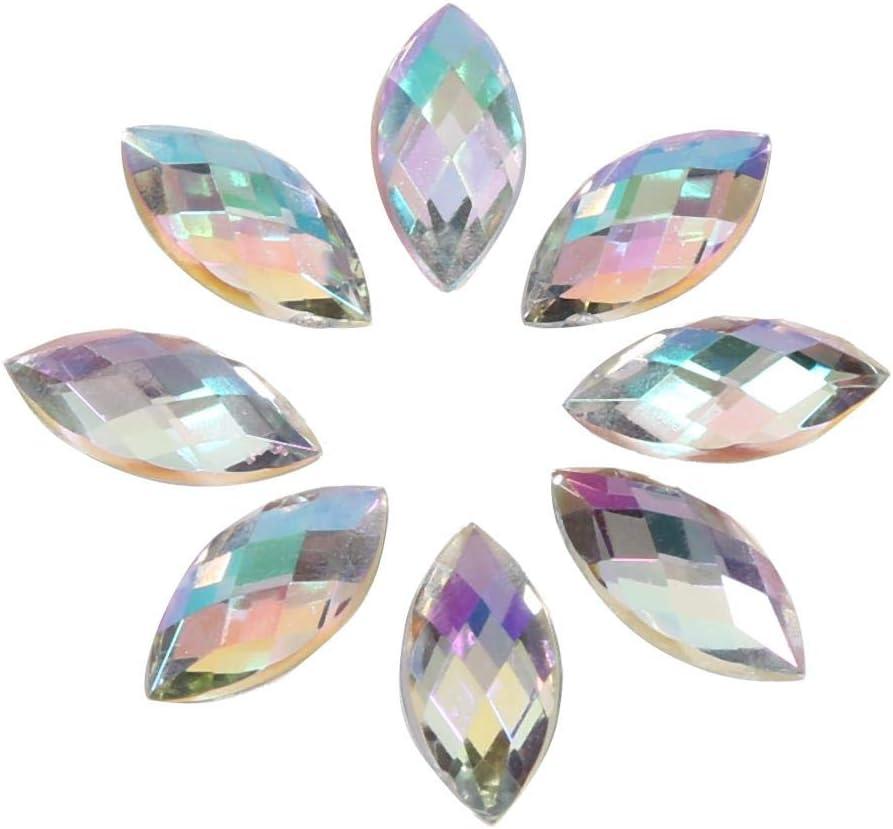 5 colores opcionales pedrer/ía de cristal plano AB Gotas de agua Cristal acr/ílico efectos especiales diamantes de imitaci/ón Azul claro 500 piezas de cristales iridiscentes