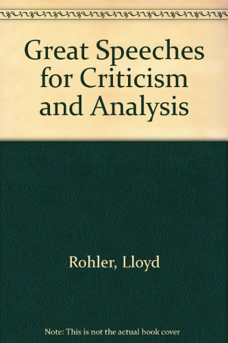 Great Speeches for Criticism and Analysis