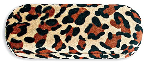 Hard Eyeglass Case, Glasses Holder For Women, Girls, Teens- Faux Animal Fur, - Jaguar Eyeglass Frames