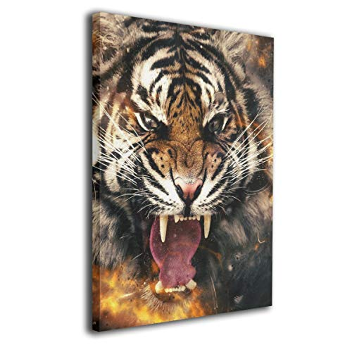 Little Monster Animals, Tiger, Face Inner Framed Pictures On Canvas Wall Decor Modern Art for Kids Bedroom -
