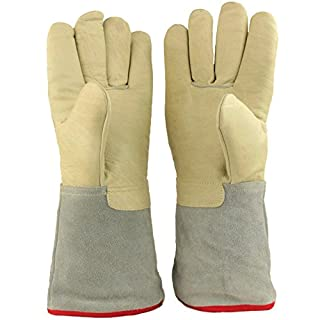 13.8″/35cm Long Cryogenic Gloves LN2 Liquid Nitrogen Protective Gloves from U.S. SOLID