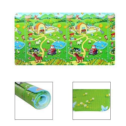 homcom Tappetino Gioco Morbido Pratico con Animali per Bambini 230 x 130 x 1.2cm Colori Assortiti