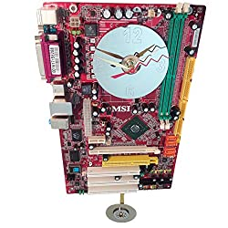 Red Motherboard Pendulum Wall Clock. Unique. Great Geek Gift. Interesting and Rare Color Combinations. Got Holiday Gift?