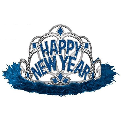 [Sparkling New Year Tiara Party Accessory, Blue, Plastic , 3