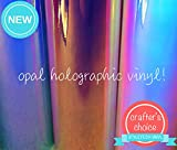 """Opal Holographic Chrome Vinyl Adhesive Sheets 