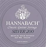 Hannabach 9007 MHT SILVER 200 Medium/High, 3-Bass Set