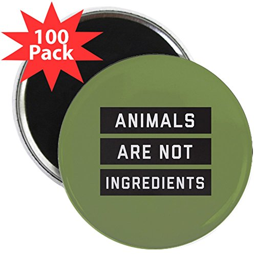 CafePress - Animals Are Not Ingredient - 2.25'' Magnet (100 pack) by CafePress
