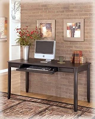 Carlyle Home Office Large Leg Desk in Almost Black