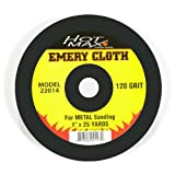 Hot Max 22014 Abrasive Emery Cloth with 120 Grit, 1-Inch by 25 Yards