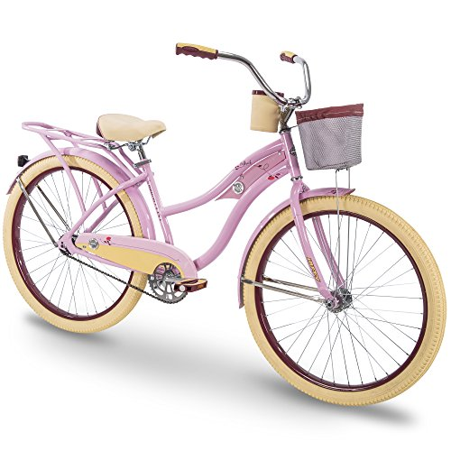 Deluxe Cruiser - Huffy 26 Holbrook Womens Cruiser Bike, Pink, Perfect Fit Frame
