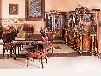 Esszimmer Antik | Louisxv Barock Esszimmer Antik Stil Replikat Vitrine Sideboard Tisch