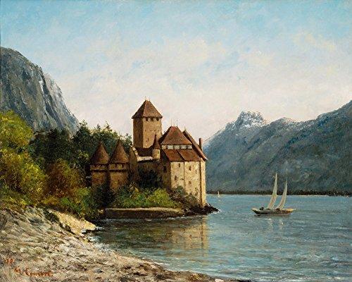 ee Canvas Print Paintings Poster Reproduction(The Castle of Chillon Evening) (Citation Castle)