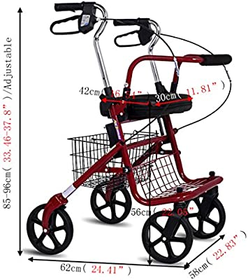 ayuda a caminar XXGI Ligero Plegable Andador con Ruedas De 4 ...
