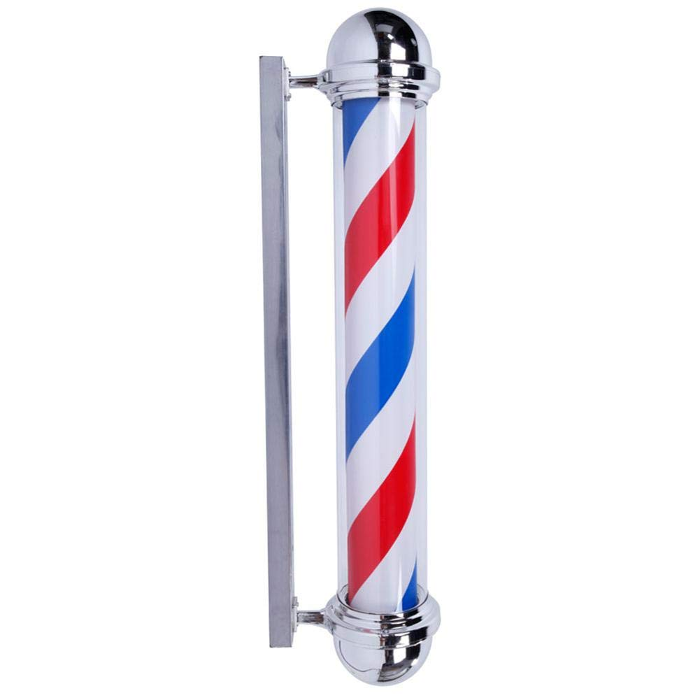 reakfaston Classic Rotating Hair Salon Shop Barber Pole Light 36'' M317C Rotating Barber Pole LED Light