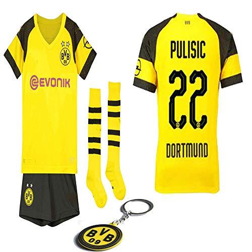 dacf82b3501 Borussia Dortmund 2018 19 Replica Pulisic Marco Reus Kid Jersey Kit    Shirt