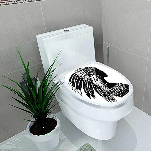 Toilet Sticker Young Woman in Costume Merican Indian Indian Women Home Decor Applique Papers W14 x L14 for $<!--$23.99-->