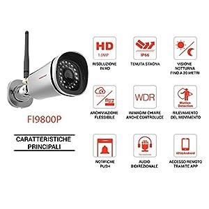 Foscam FI9800P Caméra IP Wi-Fi HD 1 Mpix Argent, Le meilleur rapport