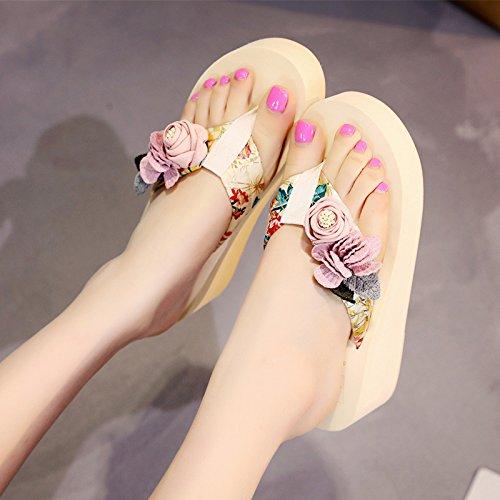 FLYRCX estate fondo flip Ladies' skid scarpe anti moda spiaggia pantofole da morsetti outdoor seaside spesso f flop rXqrgtSwd