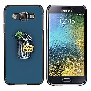 YiPhone /// Prima de resorte delgada de la cubierta del caso de Shell Armor - Yoda Scram - Samsung Galaxy E5 E500