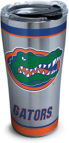 Tervis 1297299 NCAA Florida Gators Tradition Stainless Steel Tumbler with Lid, 20 oz, Silver