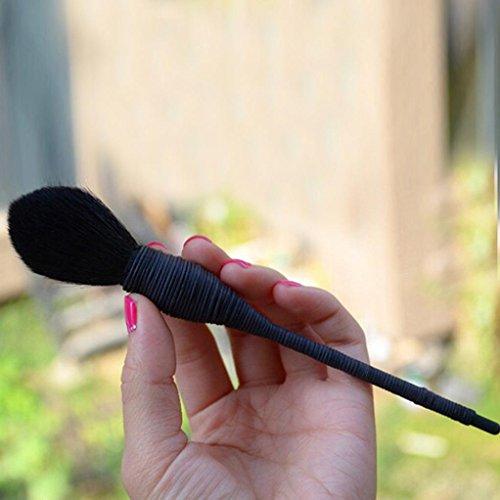GOTD Professional Handmade Rattan Makeup Brush Makeup Tools Blush Brush (Black ) (Rattan Core)
